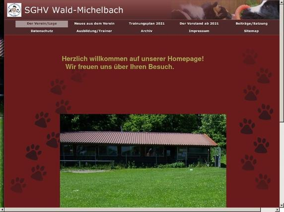 Screenshot von http://www.hundeverein-wald-michelbach.de